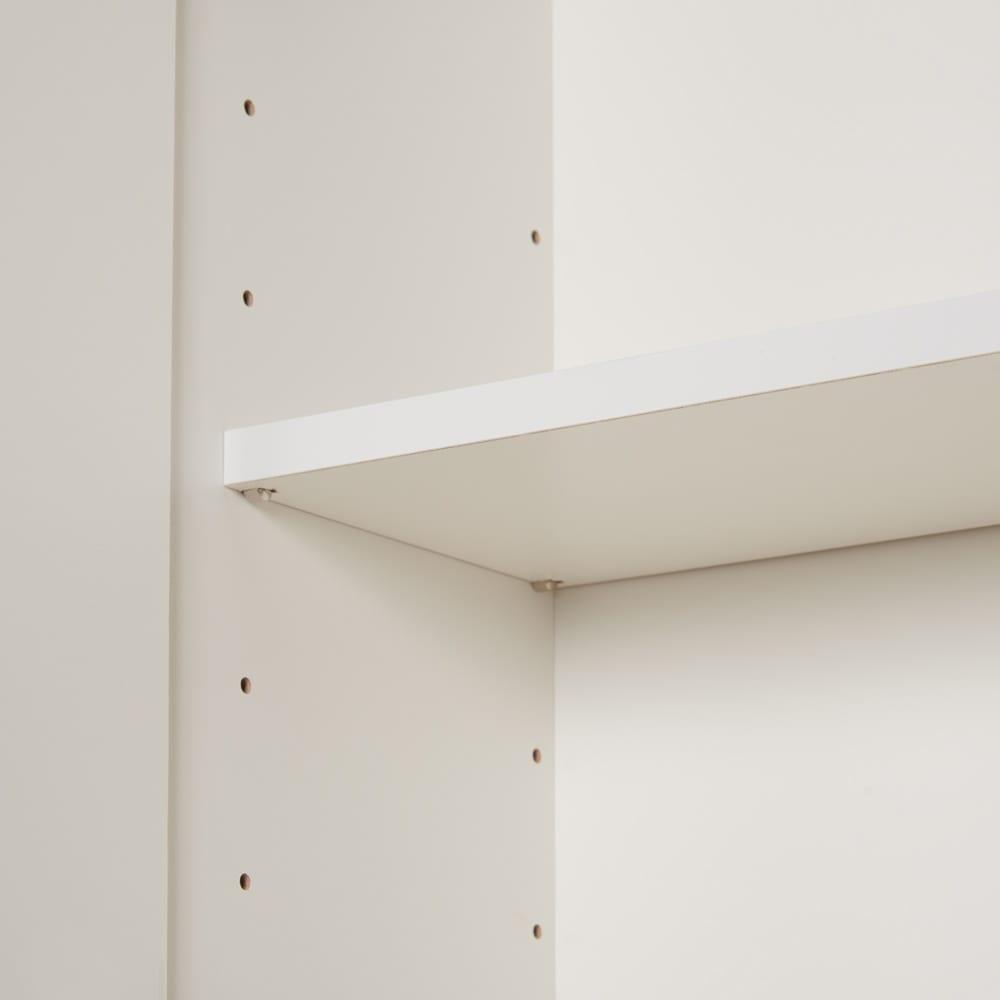 コーナーテレビ台壁面収納シリーズ オーダー対応突っ張り式上置き(1cm単位) 幅117cm・高さ51~78cm