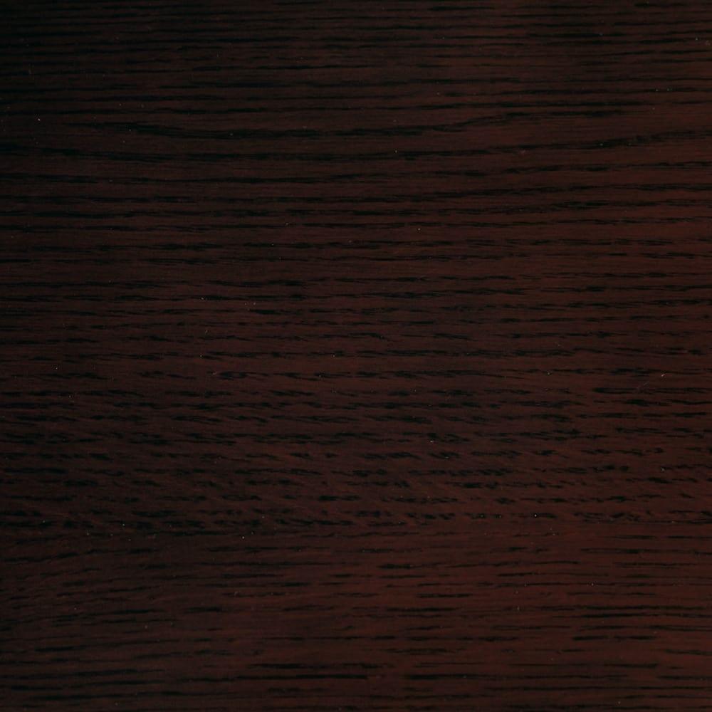 オーク材アールデザインシリーズ テレビ台 幅180cm 高級感があり落ち着いた印象の(イ)ダークブラウン。オーク材ならではの木目が楽しめます。
