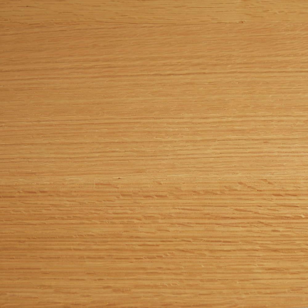 オーク材アールデザインシリーズ サイドボード 幅50cm(左開き) 明るく清々しい(ア)ナチュラル。オーク材ならではの木目が楽しめます。
