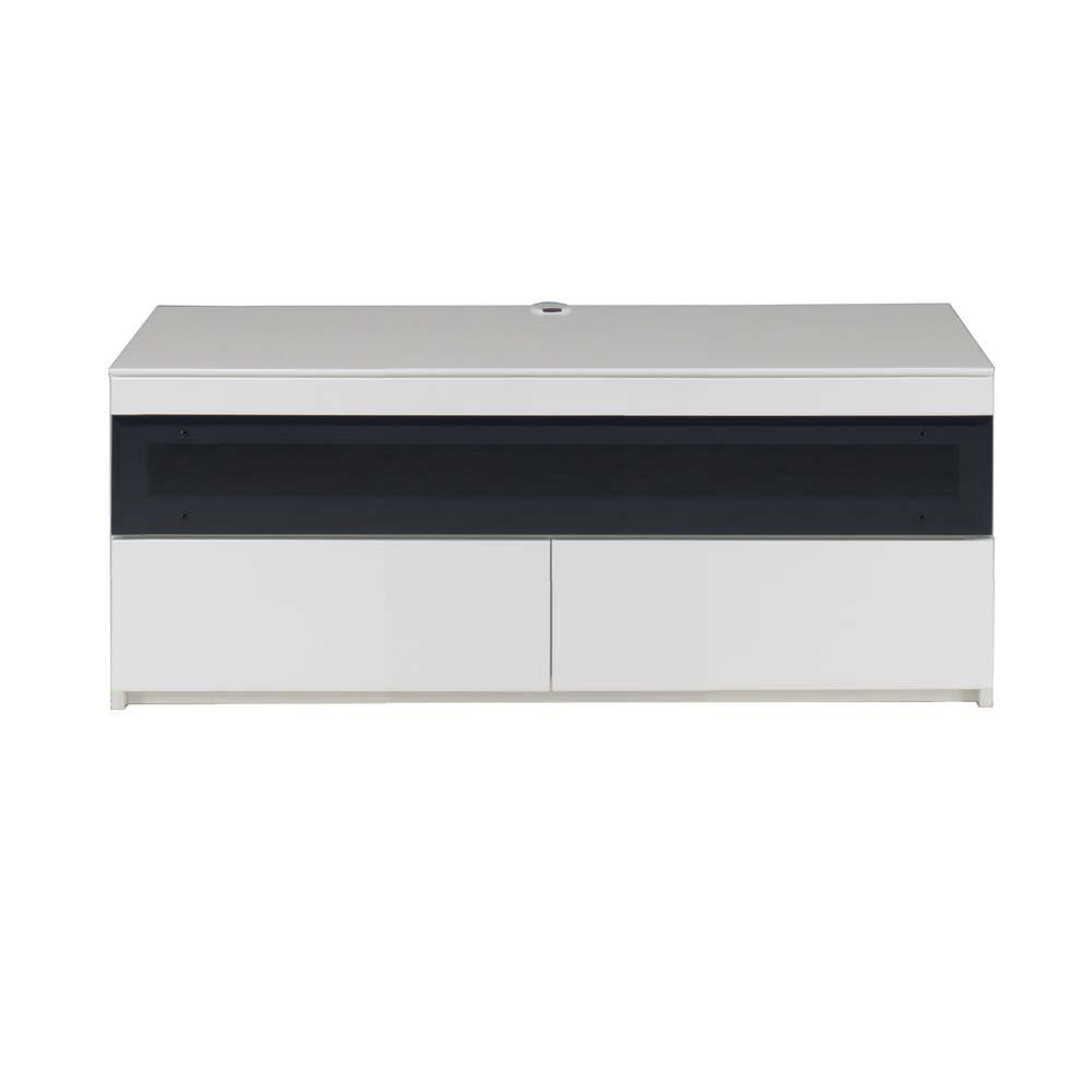 パモウナBW-120 輝く光沢のモダンリビングシリーズ テレビ台 幅120cm (ア)ホワイト