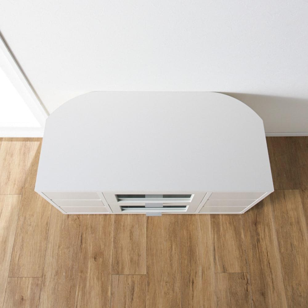 角度が自由自在の収納充実コーナーテレビ台 幅100高さ70cm 【壁と平行に】壁に沿わせて置いてもお洒落。収納も充実です。
