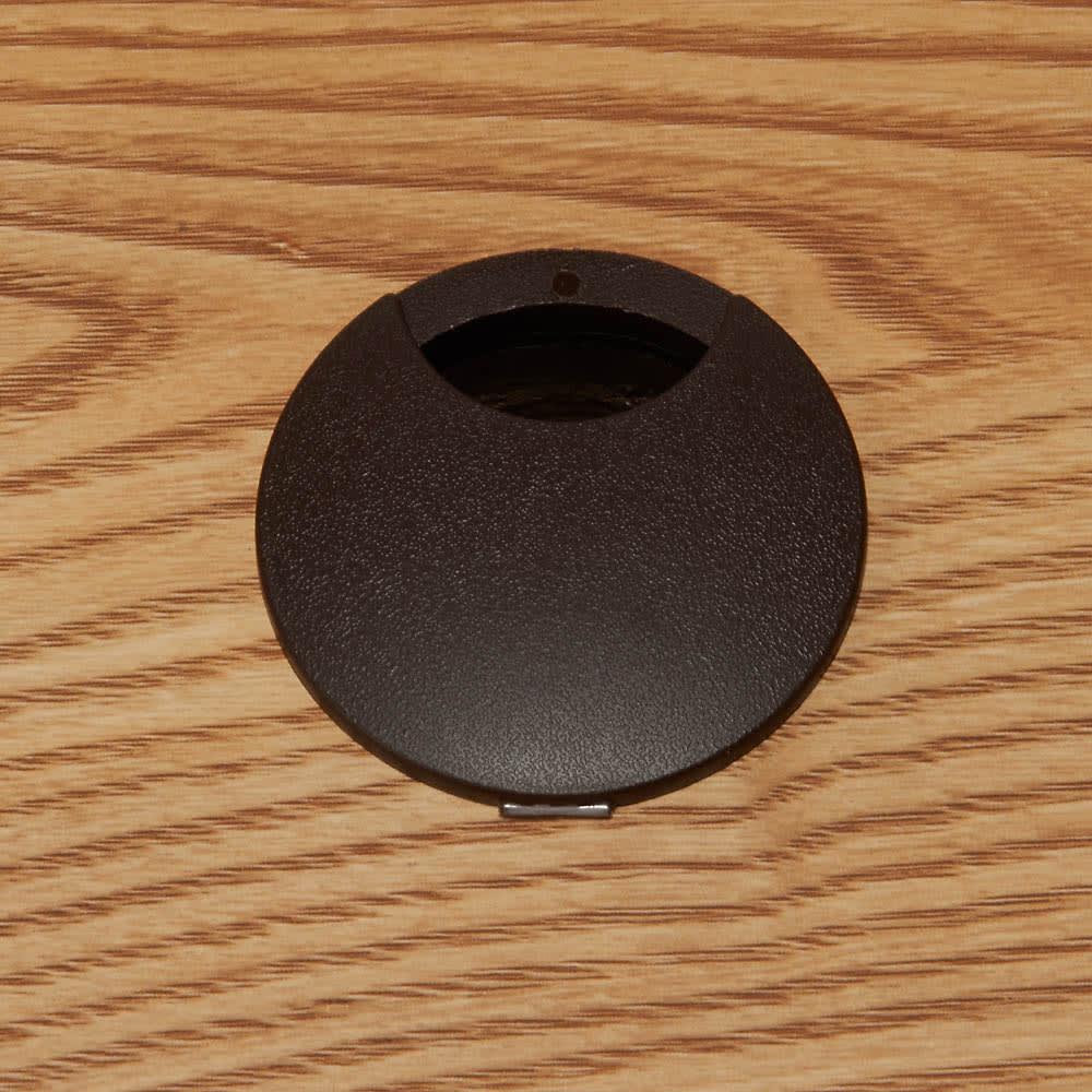 隠しキャスター付き天然木格子コーナーテレビ台幅90cm(隠しキャスター付き) 天板奥には配線用コード穴付き