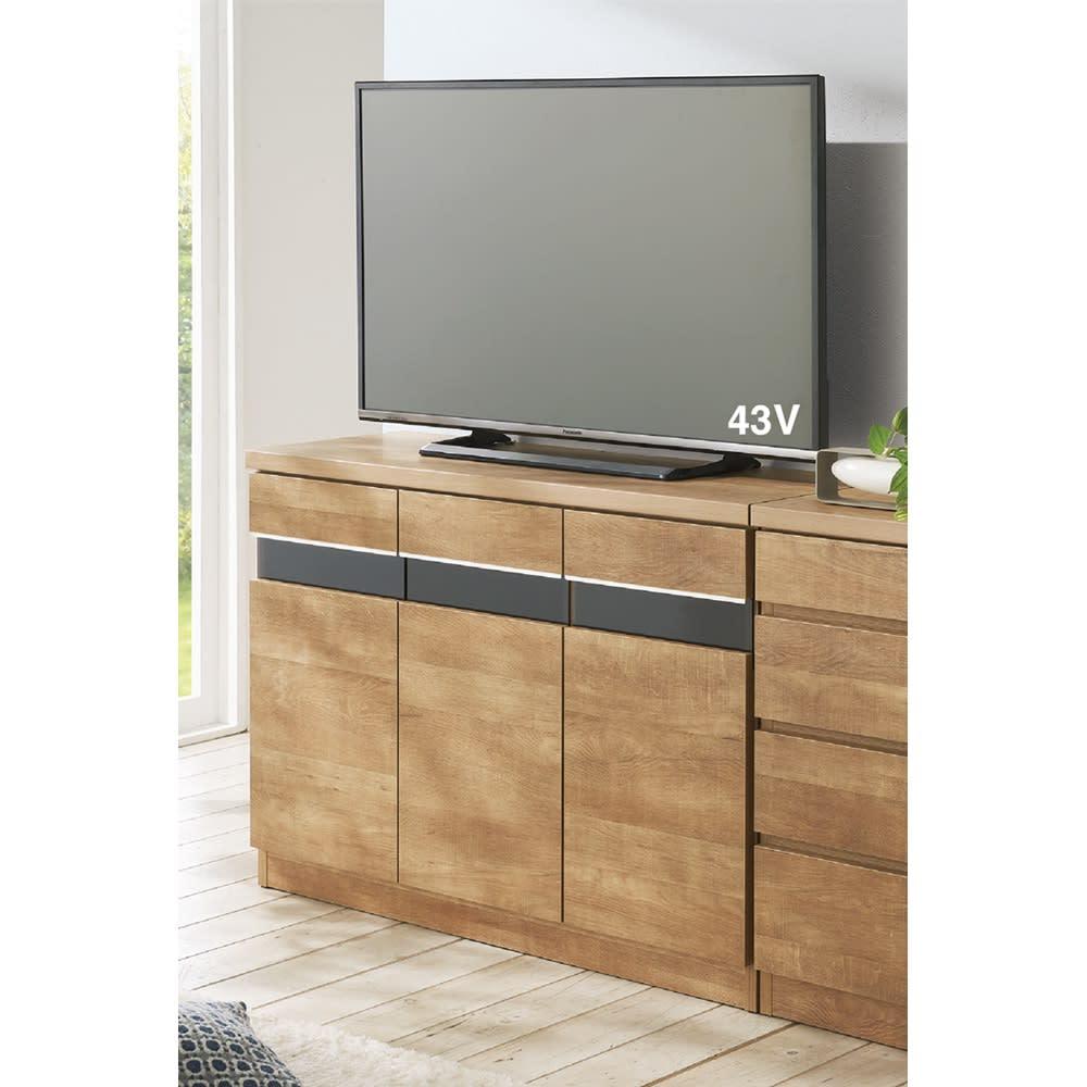 リビングギャラリーシリーズ テレビ台 幅120cm 使用イメージ(ア)ナチュラル ※写真はテレビ台・幅105cmタイプです。
