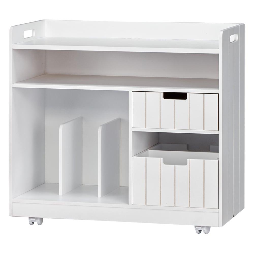 家具 収納 小物収納 収納ボックス 収納ケース 隠せるリビング整理ワゴン 収納タイプ 幅60cm 552622