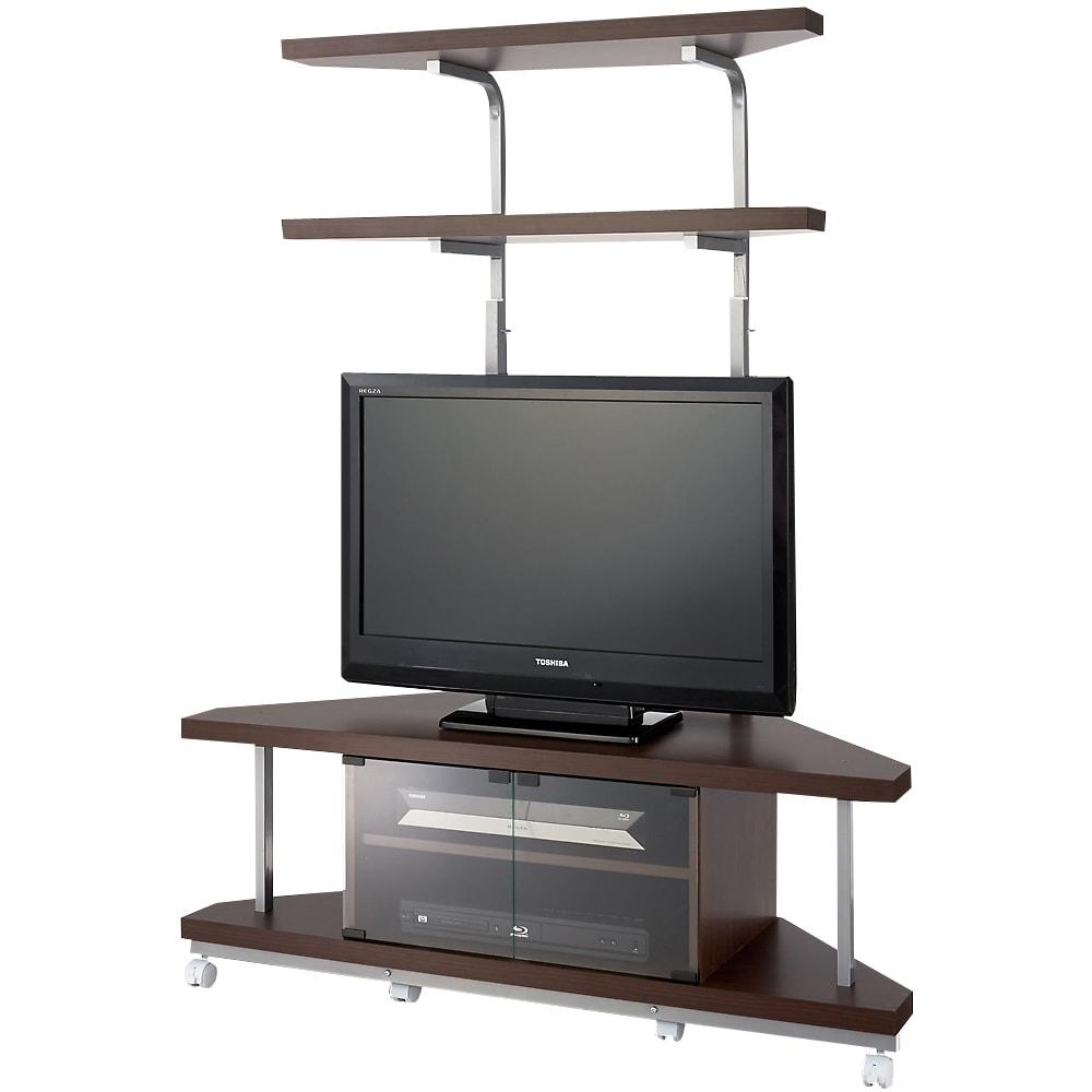 家具 収納 リビング収納 テレビ台 コーナーテレビ台 テレビ上の空間を有効活用できるシリーズ コーナー用テレビ台 幅120cm・棚2段 552715