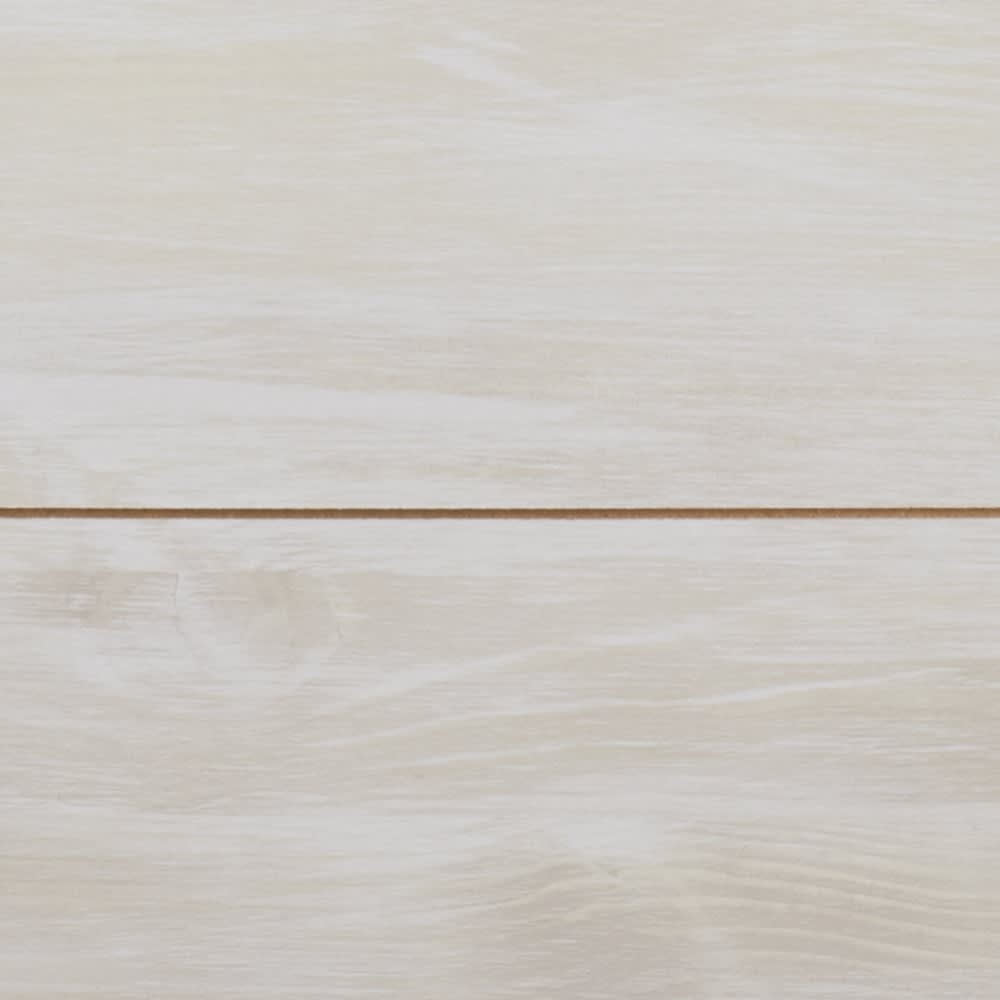 収納ワゴン付きリビングベンチ 3連 (イ)ホワイト(木目)
