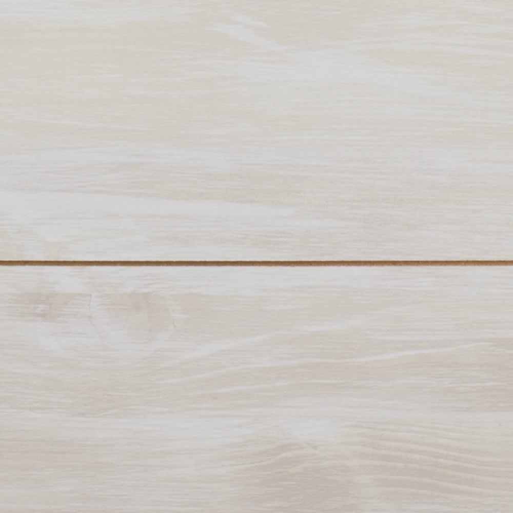 収納ワゴン付きリビングベンチ 4連 (イ)ホワイト(木目)
