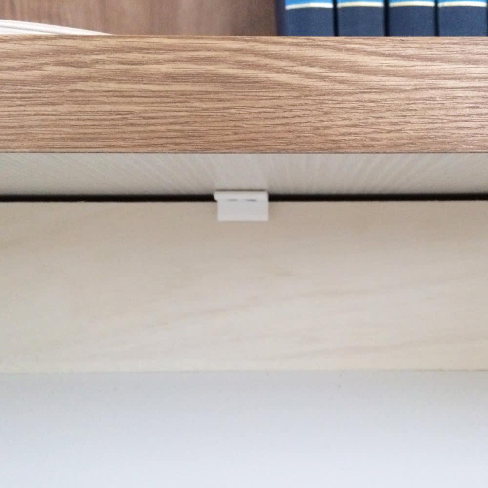 ホームライブラリーシリーズ デスク 幅80cm 突っ張りタイプ 引き出しにはストッパー付き。