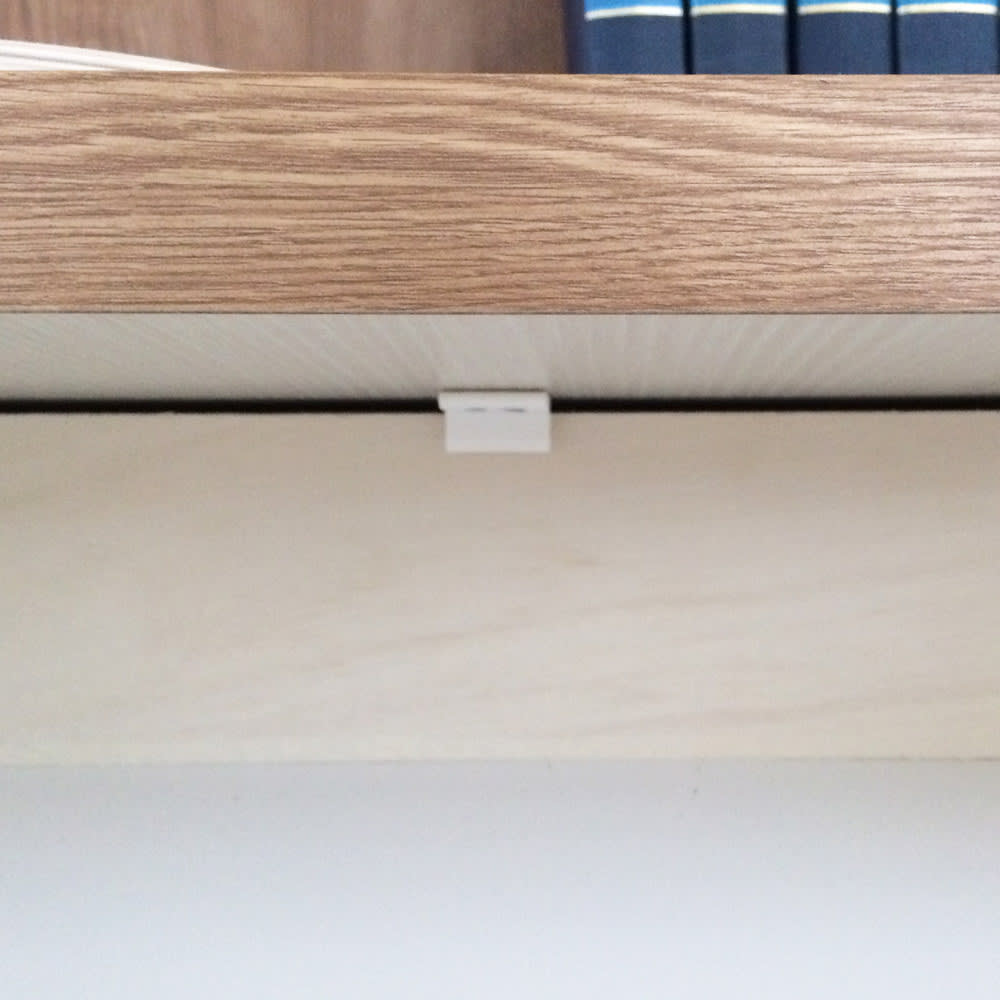 ホームライブラリーシリーズ キャビネット 幅60cm 突っ張りタイプ 引き出しにはストッパー付き。