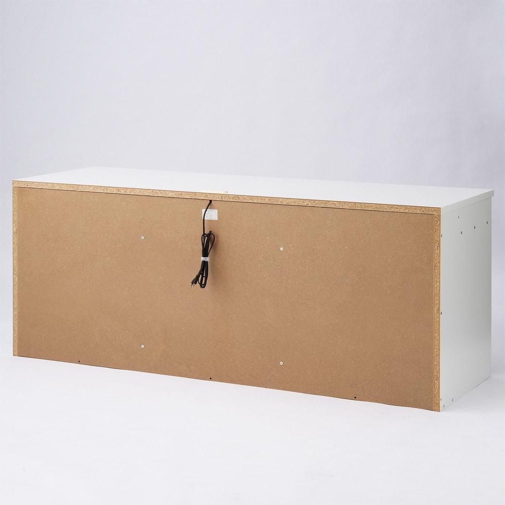シンプルデスクシリーズ たっぷり奥行60cm深型デスク 幅120cm 裏面構造 ※写真は幅180cmの商品です。