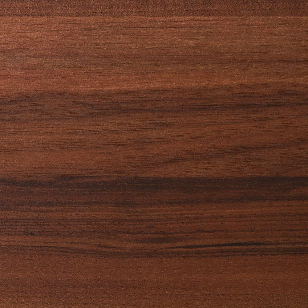 奥行44cm 生活感を隠すリビング壁面収納シリーズ 収納庫 PCデスク 幅80cm (ウ)ダークブラウン(横木目調)