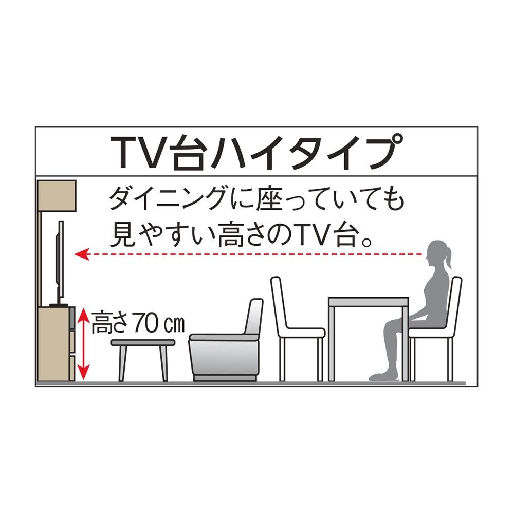 奥行44cm 生活感を隠すリビング壁面収納シリーズ テレビ台 ハイタイプ 幅90cm