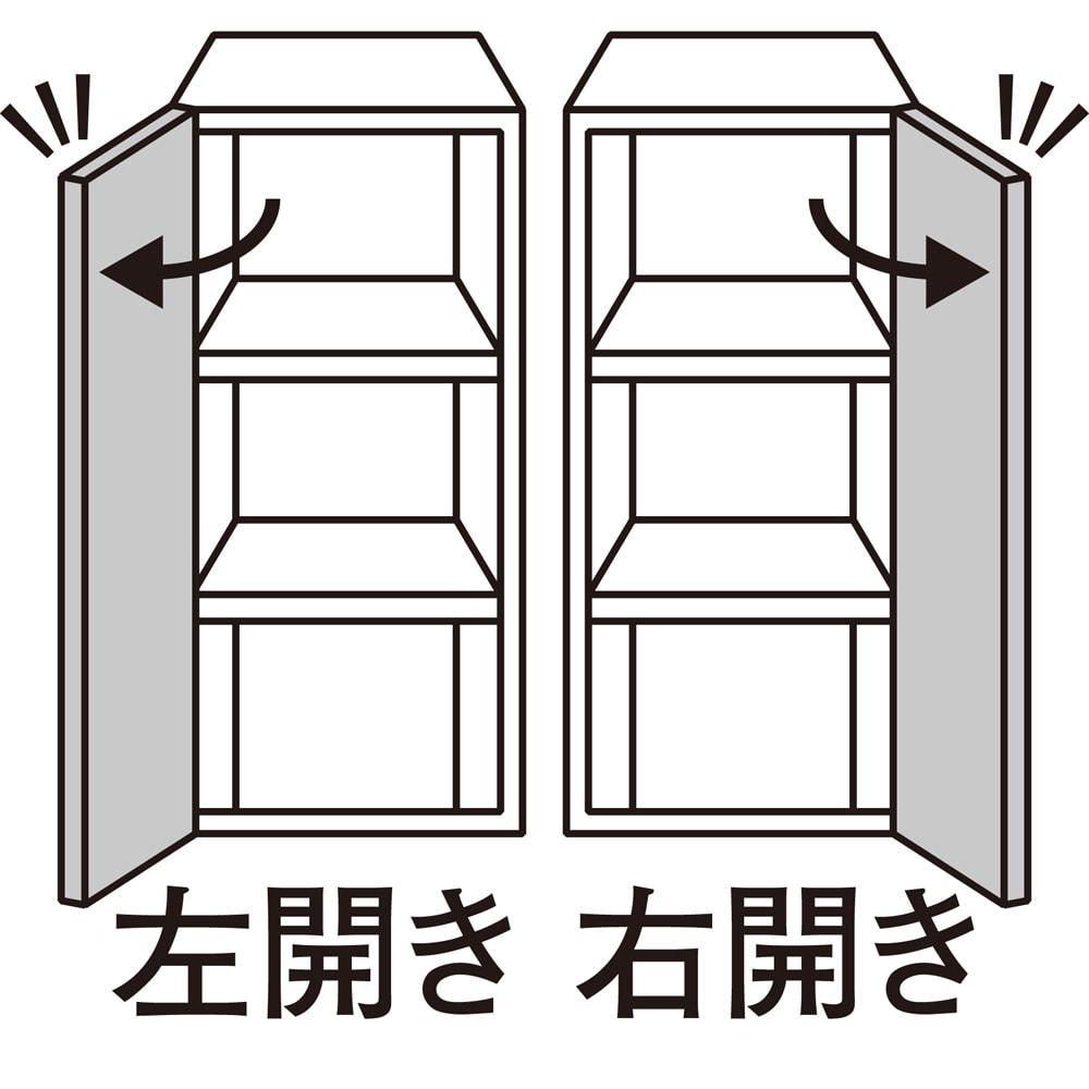 スイッチ避け壁面収納シリーズ 高さオーダー対応突っ張り上置き 奥行30cm 幅45cm・高さ41~60cm(1cm単位オーダー) 扉の開きを選べます。 右開き・左開きのいずれかをご指定ください。