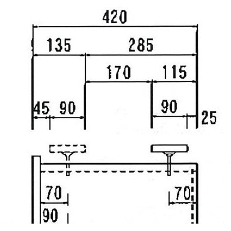オーダー対応突っ張り式上置き(1cm単位) 幅40cm・高さ51~78cm