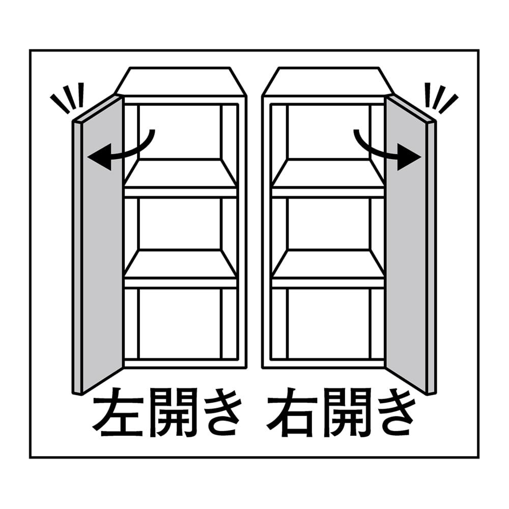 書斎壁面収納シリーズ 収納庫 オープン引き出しタイプ 幅39.5cm 幅39.5cmタイプは扉の開きを選べます。右開き/左開きのいずれかをご指定ください。