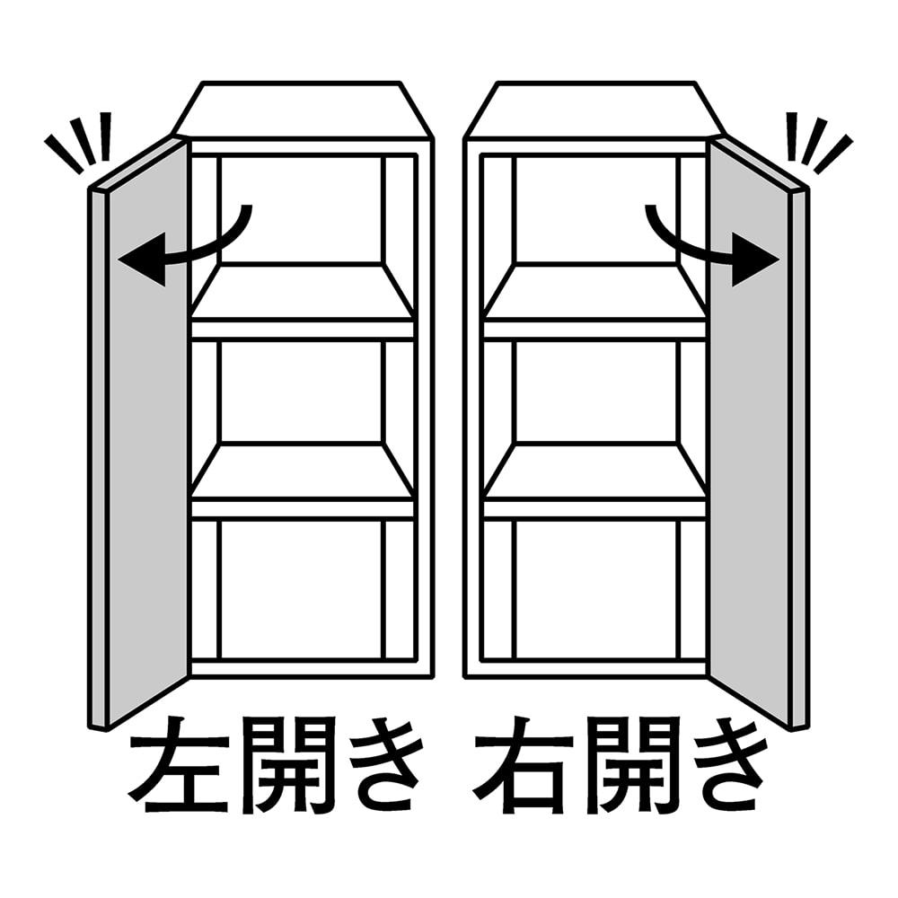 美しくしまうハイクラス壁面収納シリーズ 収納庫 板扉 板棚 幅39cm 幅39cmタイプは扉の開きを選べます。右開き・左開きのいずれかをご指定ください。
