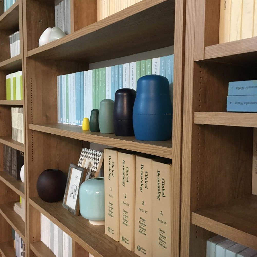 1台で壁いっぱいに本を収納!本好きのための壁面つっぱり本棚 本体幅90奥行29.5cm