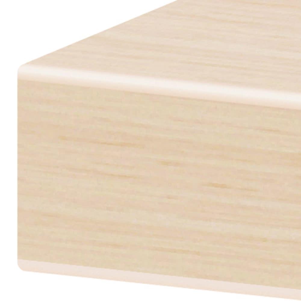 幅も高さもスペースに合わせて!壁面いっぱい幅オーダー オープン棚付きデスク 幅60~120cm 天板の角は腕当たりやわらか。