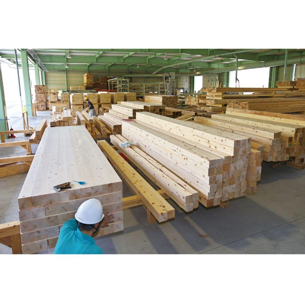 国産杉 頑丈オープンラック 奥行45.5cm 幅59cm 高さ89cm 兵庫木材センターで丹念に製材された国産杉を使用。