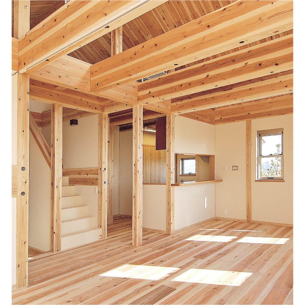 国産杉 頑丈オープンラック 奥行45.5cm 幅59cm 高さ179cm 建築材にも使われる丈夫さが魅力