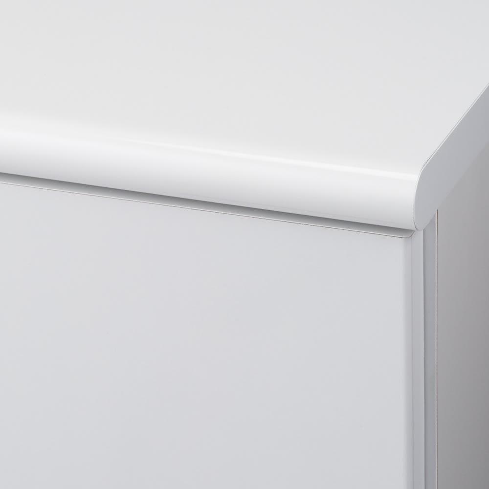 【高さサイズオーダー】 プッシュ扉リビングキャビネット 扉タイプ 幅116高さ40~120奥行45cm ホワイト