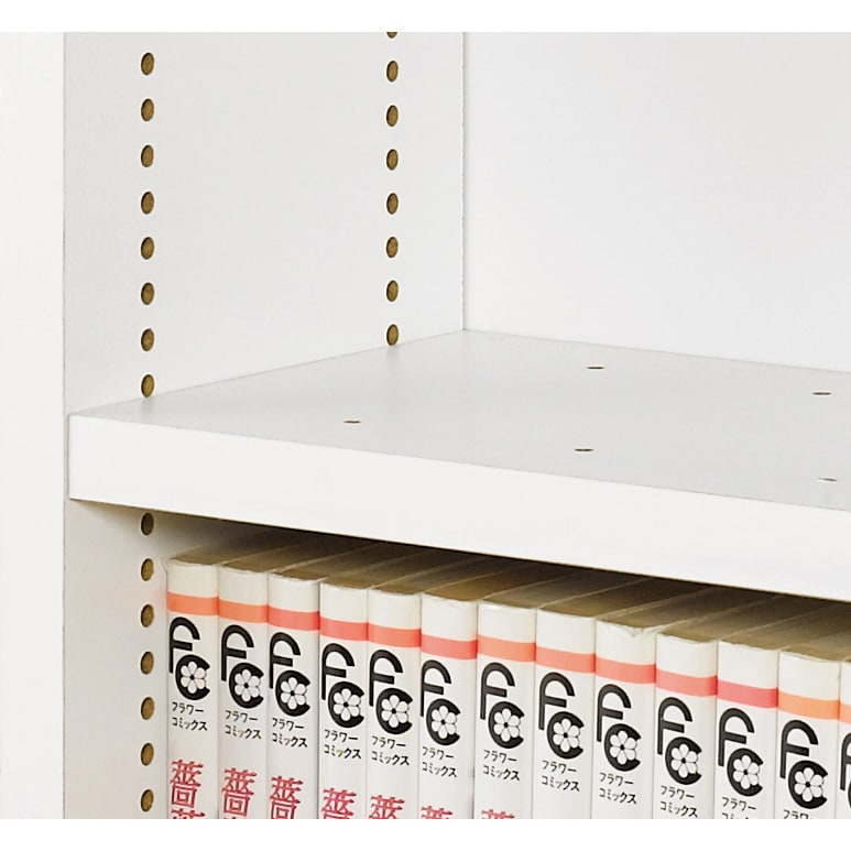 1cmピッチ スライド式すき間収納ワゴン 8段2列セット (DVD収納&コミック・漫画本収納用) 棚板は1cmピッチで高さ調節でき、ムダなく収納。