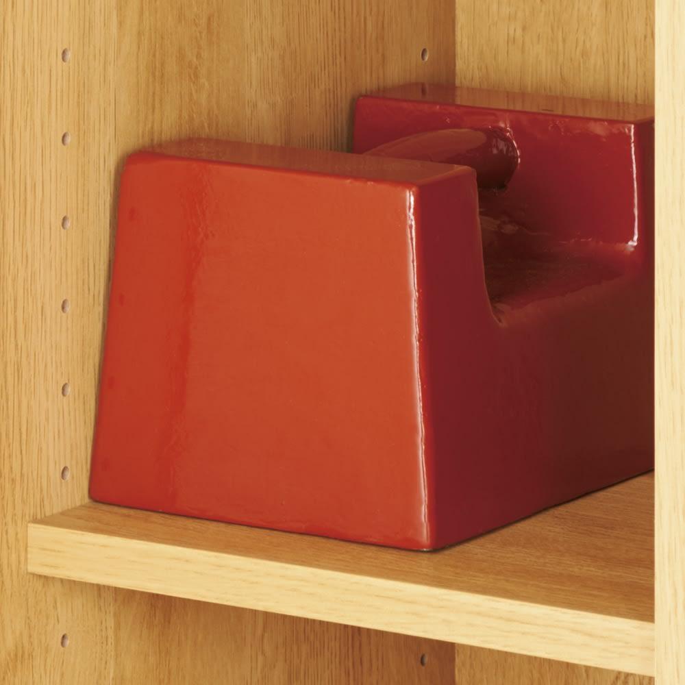 【完成品】扉が選べるオーク材のモダン本棚 ガラス扉 幅90cm 耐荷重約20kgでたわみにくい棚板。