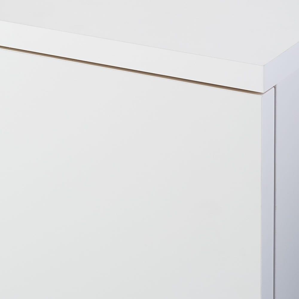 【完成品】リビングブックキャビネット 幅58奥行25高さ80cm (ウ)ホワイト