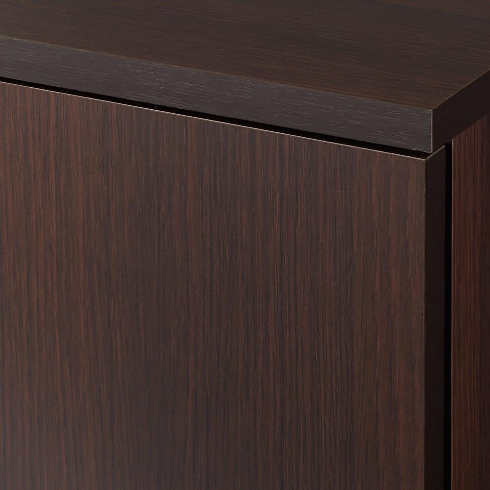 【完成品】リビングブックキャビネット 幅58奥行35高さ80cm (ア)ダークブラウン