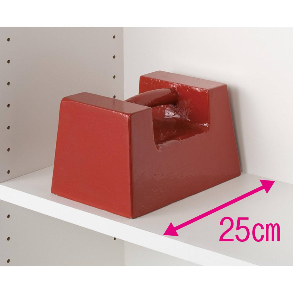 モダンブックライブラリー チェストタイプ 幅60cm 重い物も載せられる頑丈棚板。(※写真はイメージ)