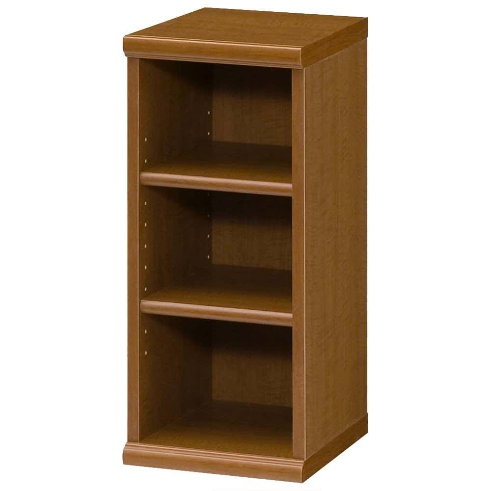 色とサイズが選べるオープン本棚 幅28.5cm高さ60cm (ウ)ブラウン