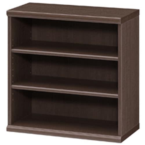 色とサイズが選べるオープン本棚 幅59.5cm高さ60cm (エ)ダークブラウン