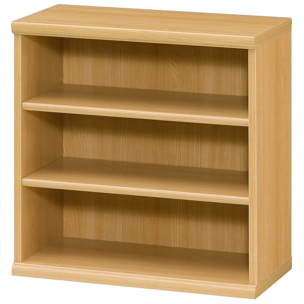 色とサイズが選べるオープン本棚 幅59.5cm高さ60cm (オ)ナチュラル