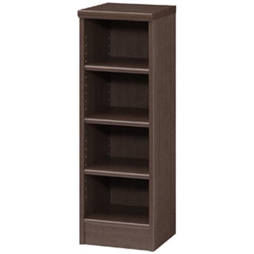 色とサイズが選べるオープン本棚 幅28.5cm高さ88.5cm (エ)ダークブラウン