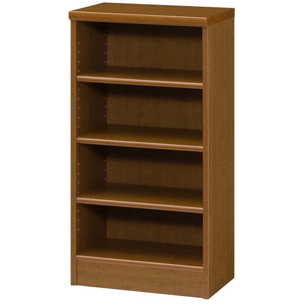色とサイズが選べるオープン本棚 幅44.5cm高さ88.5cm (ウ)ブラウン
