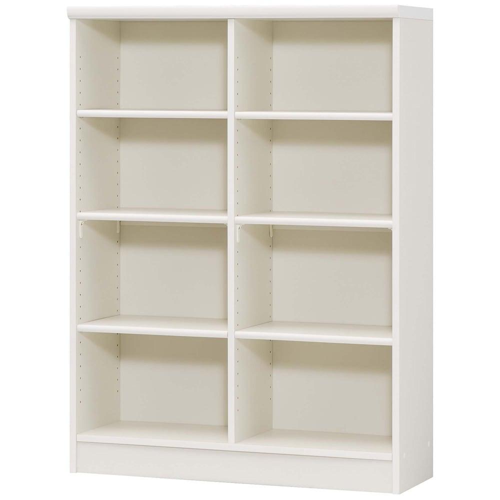 色とサイズが選べるオープン本棚 幅86.5cm高さ117cm (イ)ホワイト