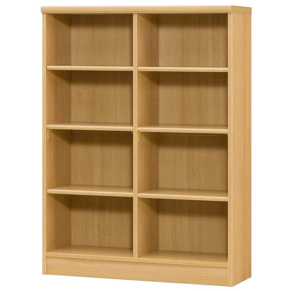 色とサイズが選べるオープン本棚 幅86.5cm高さ117cm (オ)ナチュラル