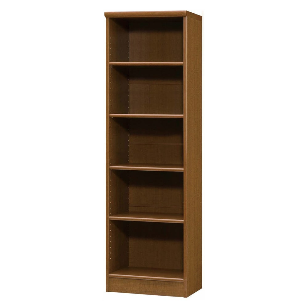 色とサイズが選べるオープン本棚 幅44.5cm高さ150cm 商品イメージ:(ウ)ブラウン