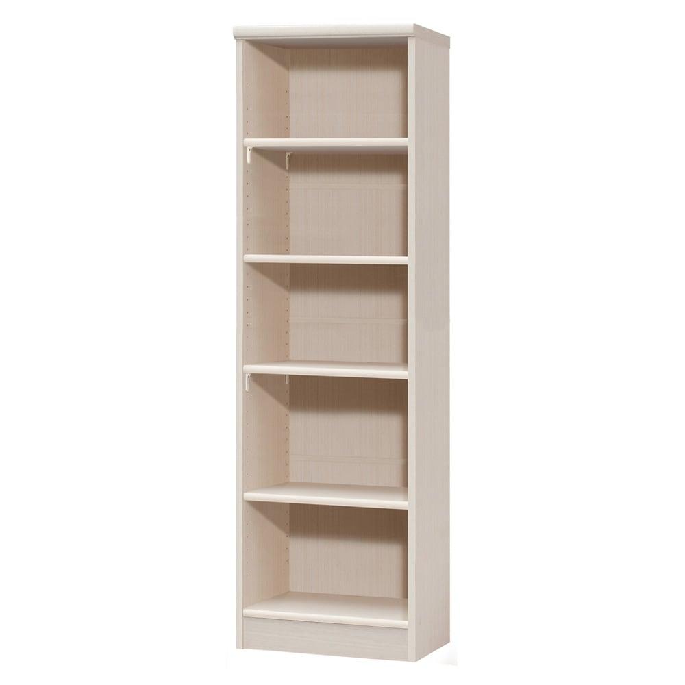 色とサイズが選べるオープン本棚 幅44.5cm高さ150cm 商品イメージ:(ア)ライトナチュラル