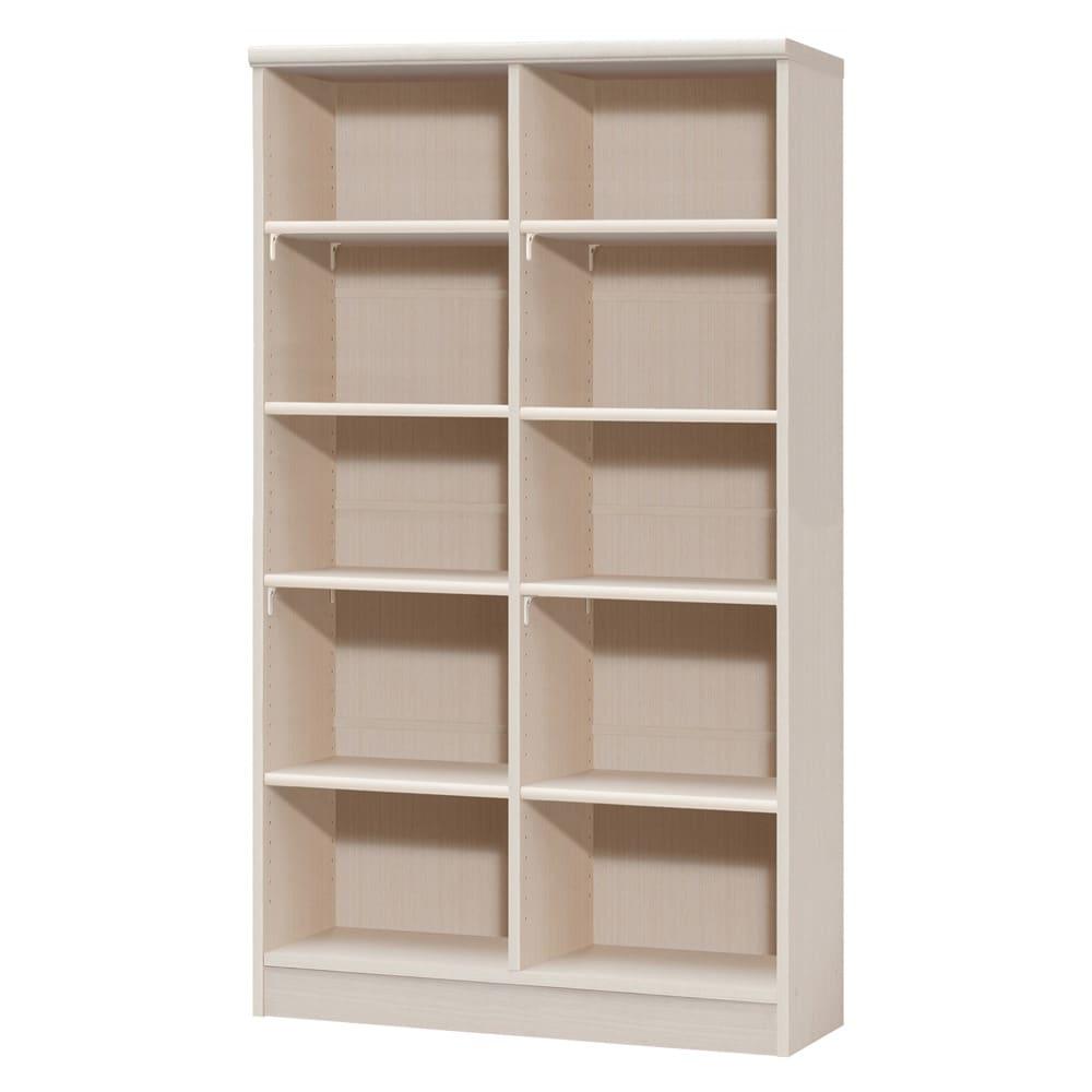 色とサイズが選べるオープン本棚 幅86.5cm高さ150cm 商品イメージ:(ア)ライトナチュラル