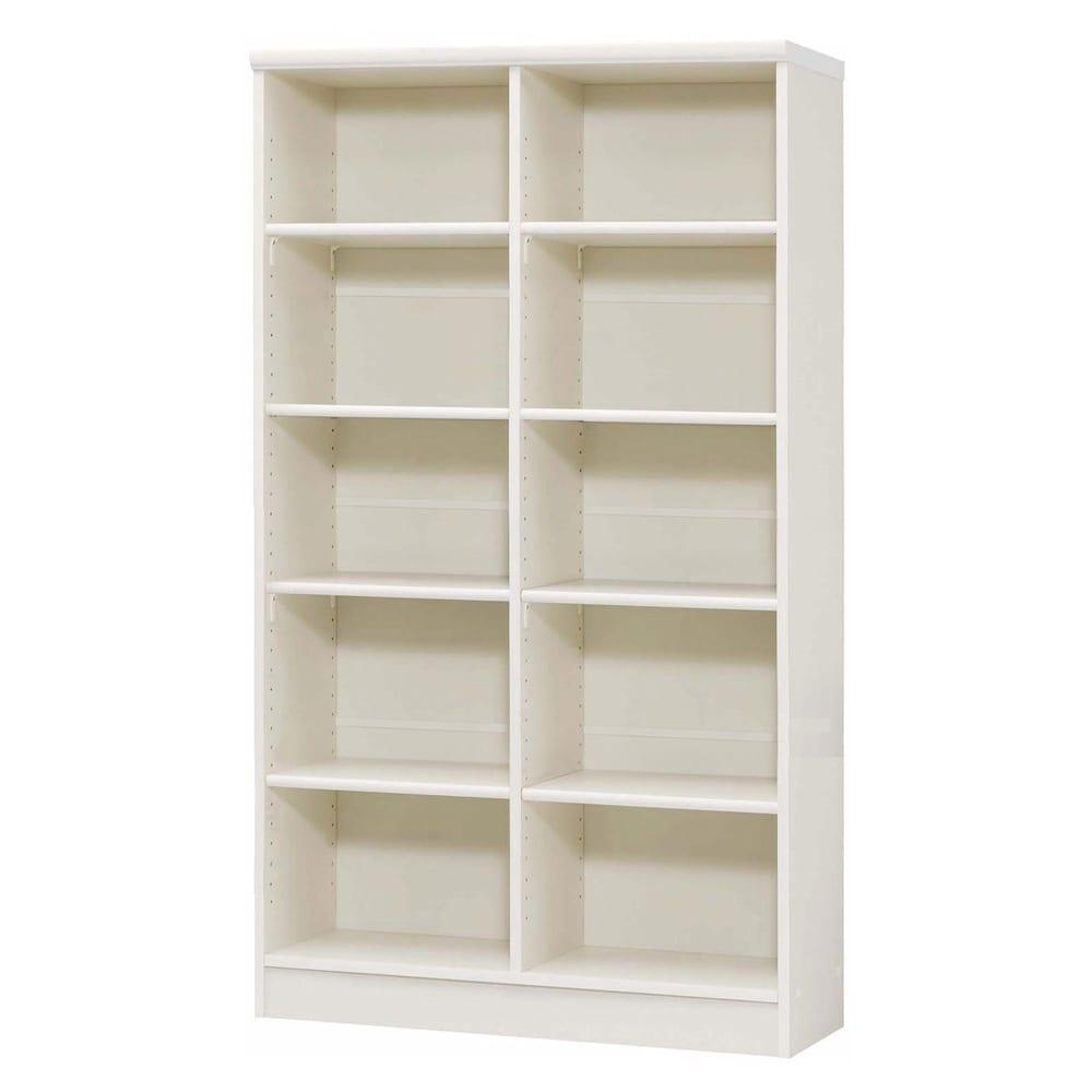色とサイズが選べるオープン本棚 幅86.5cm高さ150cm 商品イメージ:(イ)ホワイト