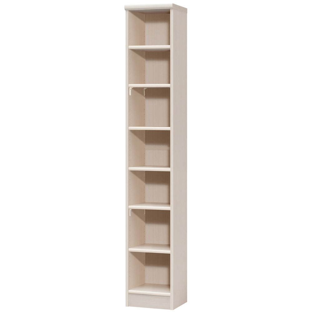 色とサイズが選べるオープン本棚 幅28.5cm高さ178cm (ア)ライトナチュラル