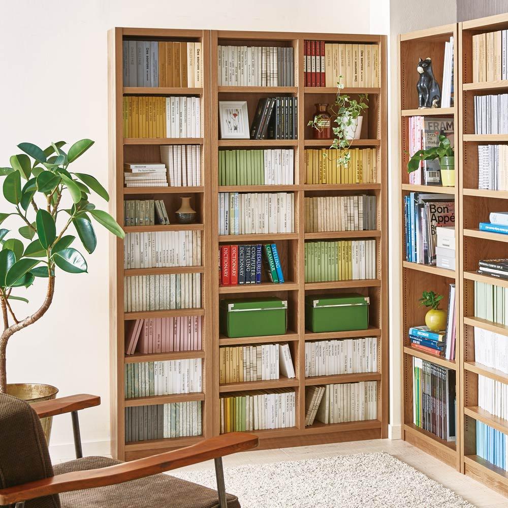 組立不要 天然木調棚板頑丈本棚 奥行19cm 書斎はもちろん、リビングや子供部屋でも邪魔にならない薄いラックです。