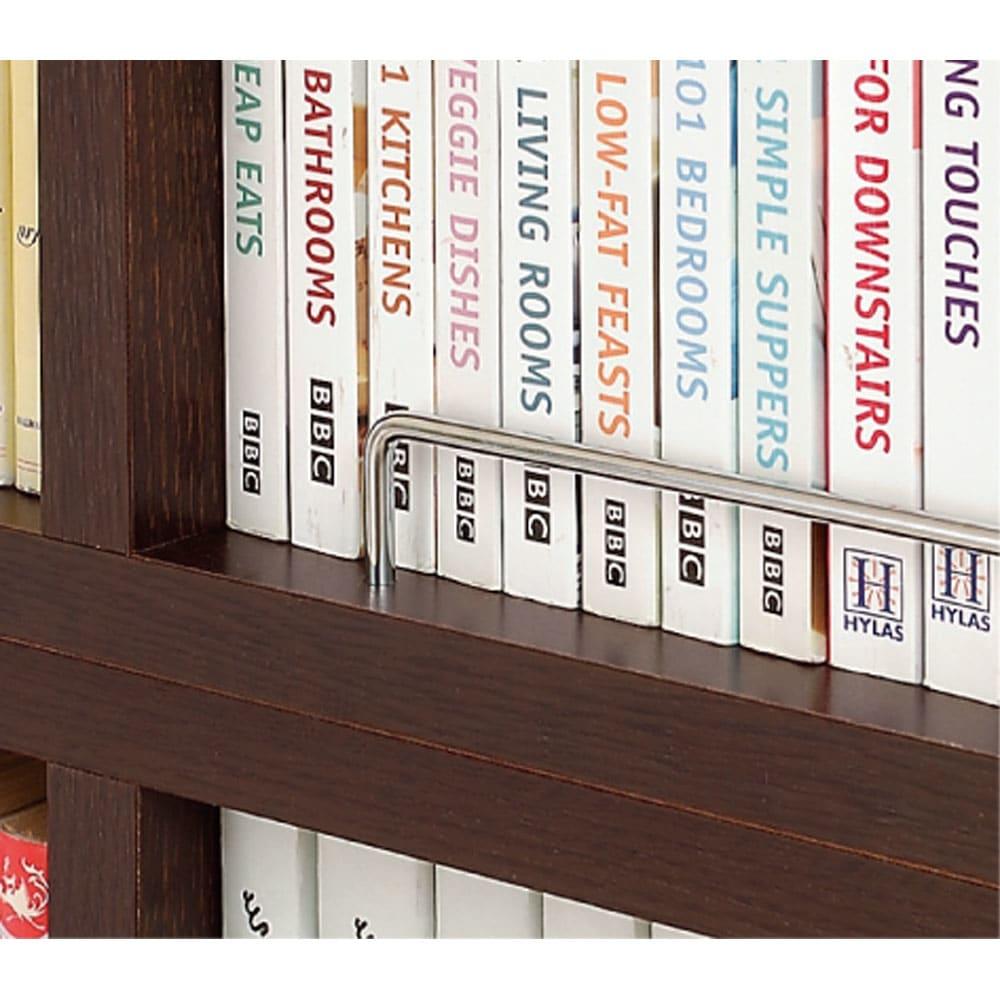 1cmピッチ薄型壁面書棚 奥行19cm 幅123cm 上置き高さ55cm オープン 上置きは着脱式落下防止バー付き。高さいっぱいに収納しても安心です。