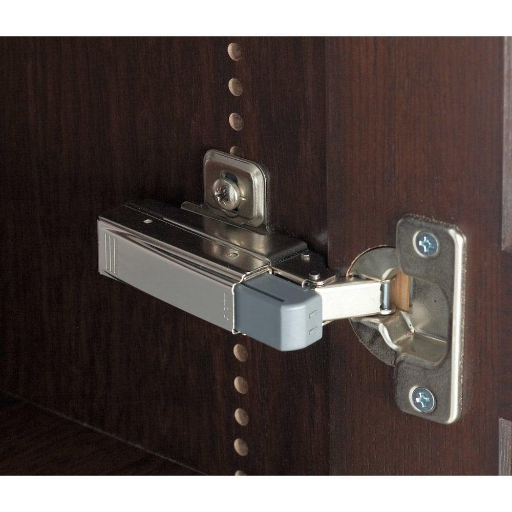 本格仕様 快適スライド書棚 タモ天然木扉付き・上置き付き 3列 扉がバタンと閉まりづらいブルム社製の金具を使用。