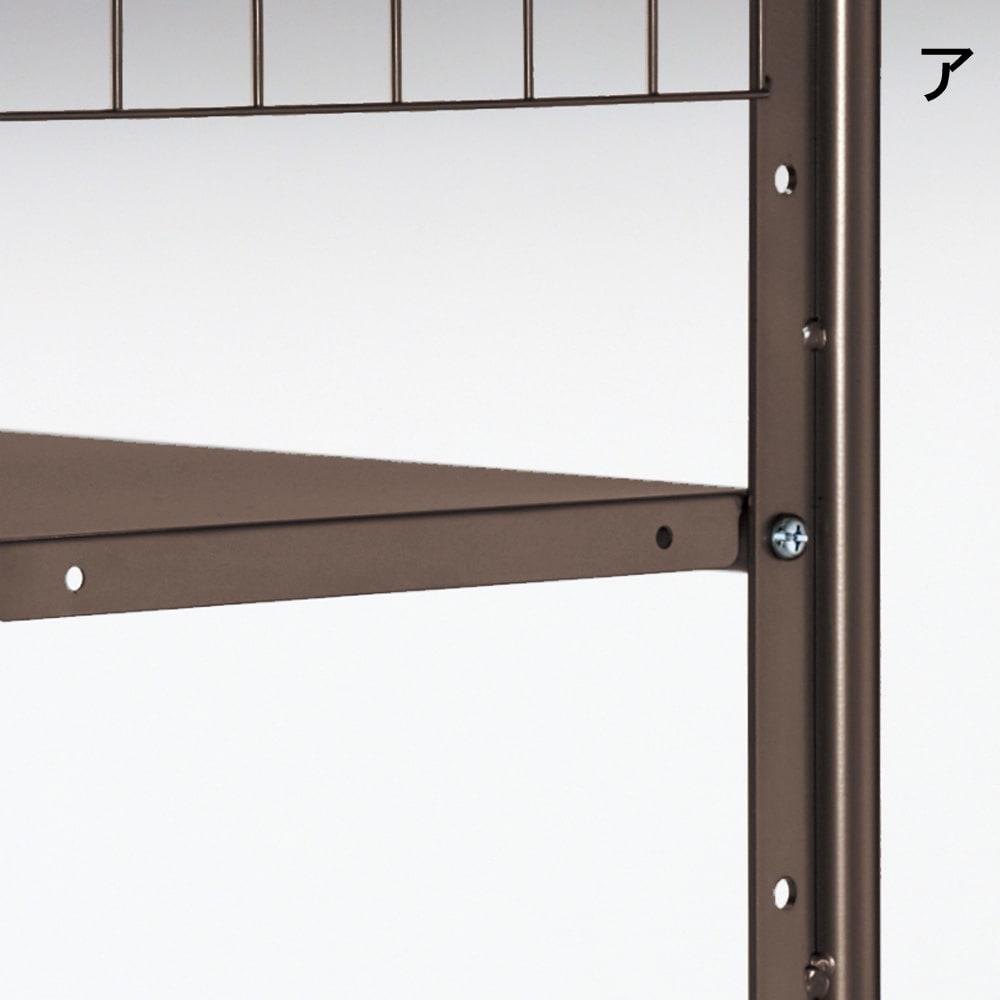 頑丈フレキシブル伸縮ラック 幅83~125cm 棚板とバーは5cmピッチで調節可能。