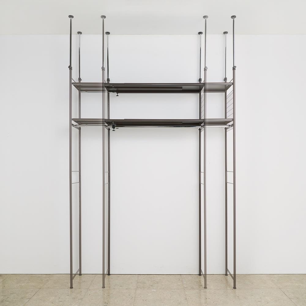頑丈フレキシブル伸縮ラック 突っ張り式・幅83~125cm 幅は無段階調節でき、ぴったり設置可能。幅外寸:83~125cm