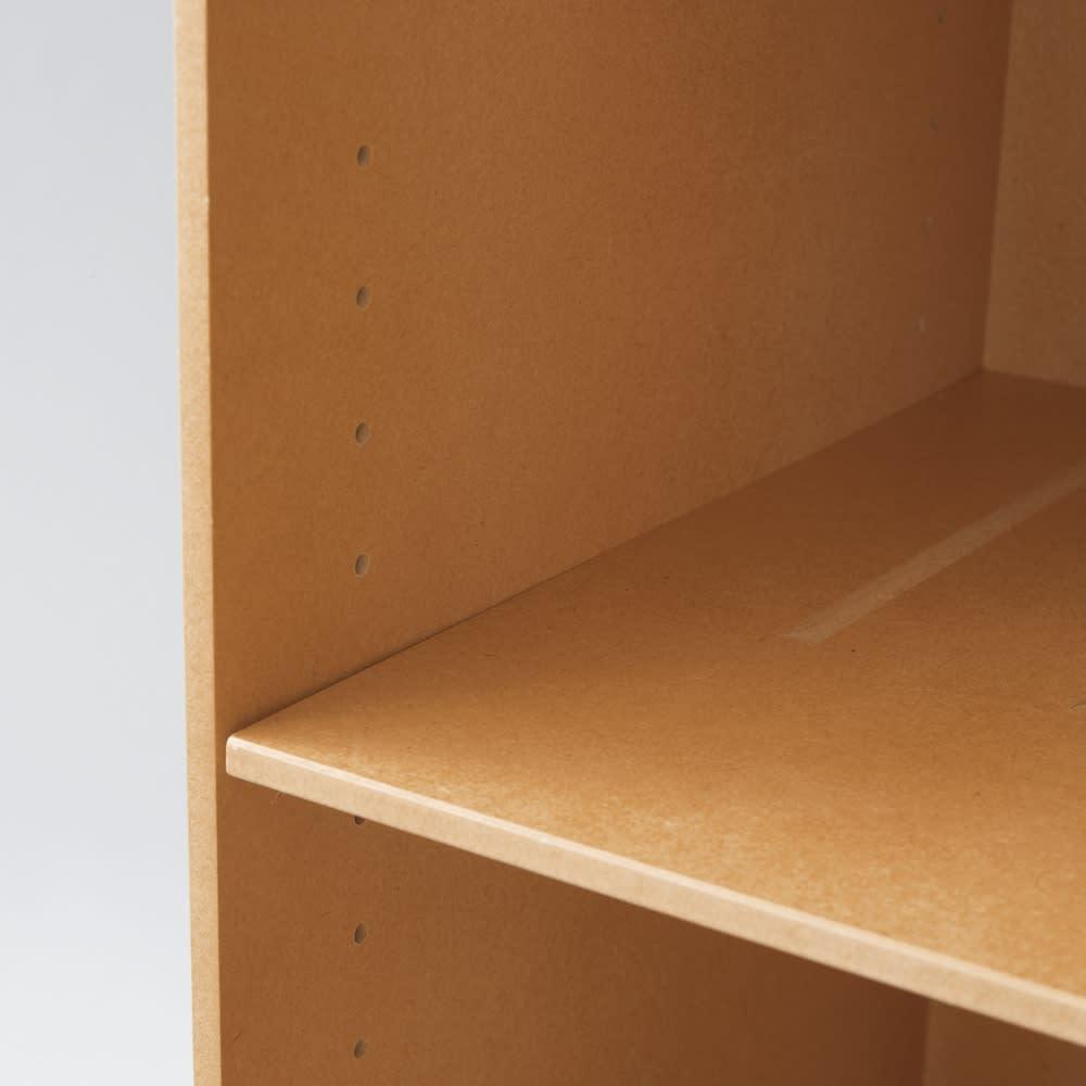 クローゼット収納シリーズ 奥行45cmタイプ バッグラック3段・幅30高さ90cm 可動棚板は3cm間隔、10段階で高さ調節できます。