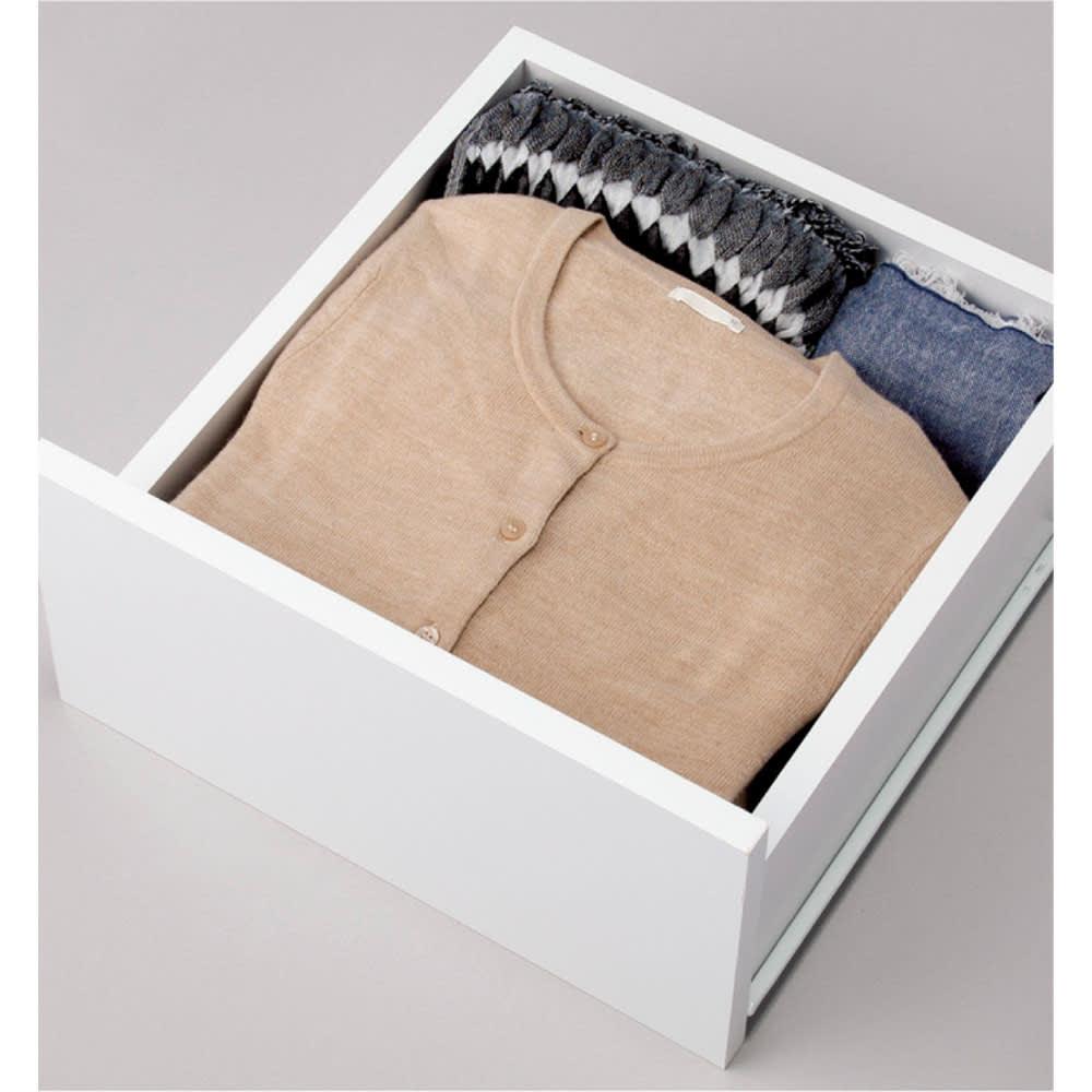 ウォークインクローゼット収納シリーズ 引き出し&棚タイプ 幅30cm・奥行44cm 引き出しは、たたむ衣類の収納に。