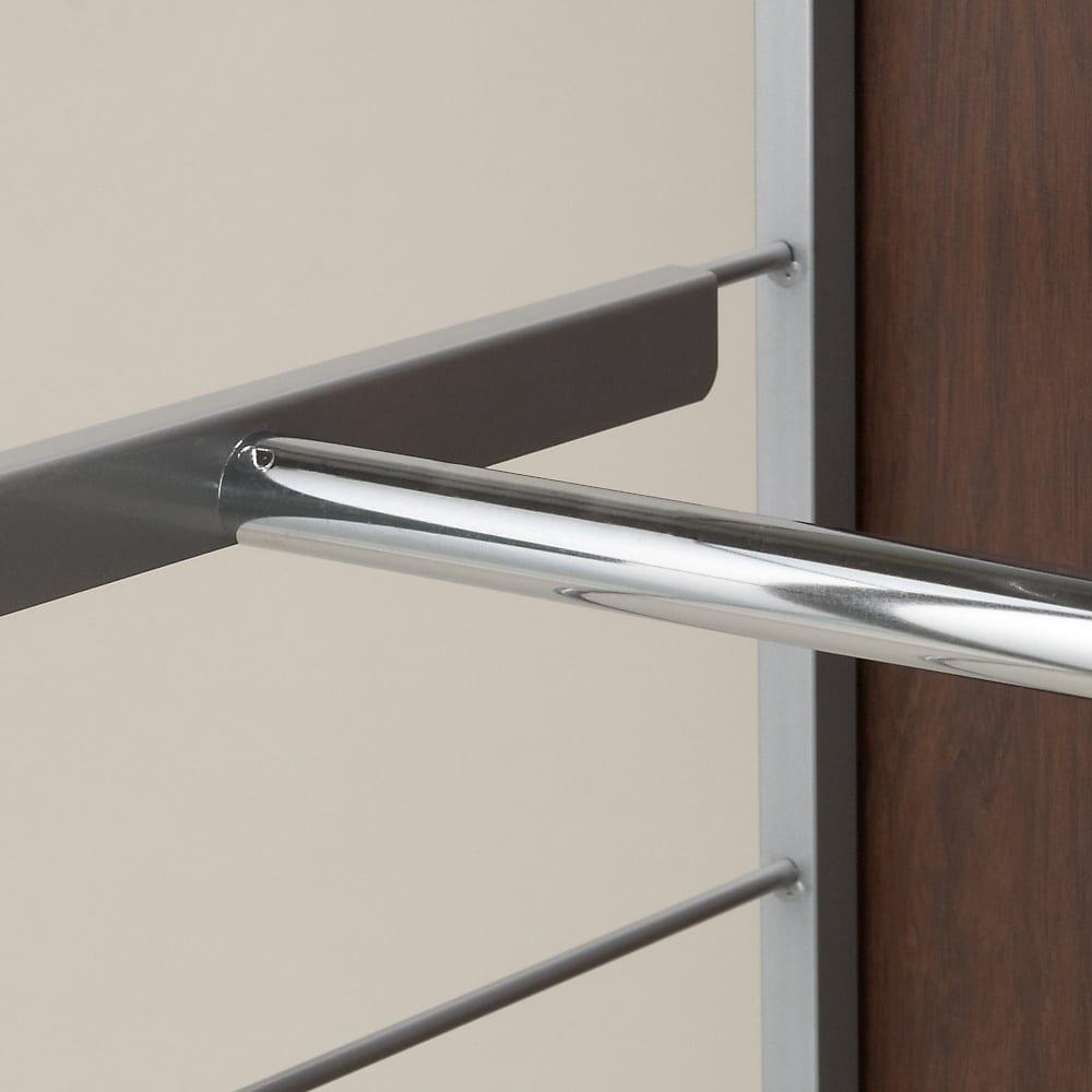 お手軽間仕切り パネル収納ハンガーラック 板タイプ 棚4枚 幅60cm ハンガーバー・棚板は14cm間隔で可動できます